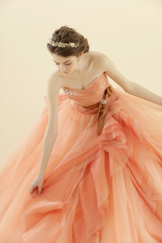 3ced3e43f125c ブログ カラードレス☆オレンジ   ウェディングドレス 名古屋 SOPHIA ...